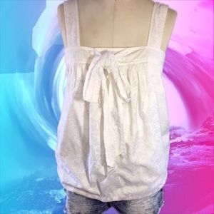 Ann Taylor Sleeveless Blouse with Front bow